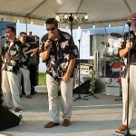 The World Famous Embers, a beach music band, is seen here performing at a festival in Hillsville Va. which is held every July.
